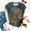 Bullfinch And Titmouse Golden Cage Vintage Buds Of Wild Roses T-shirt