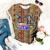SEWING MACHINE WITH FLOWERS T-SHIRT
