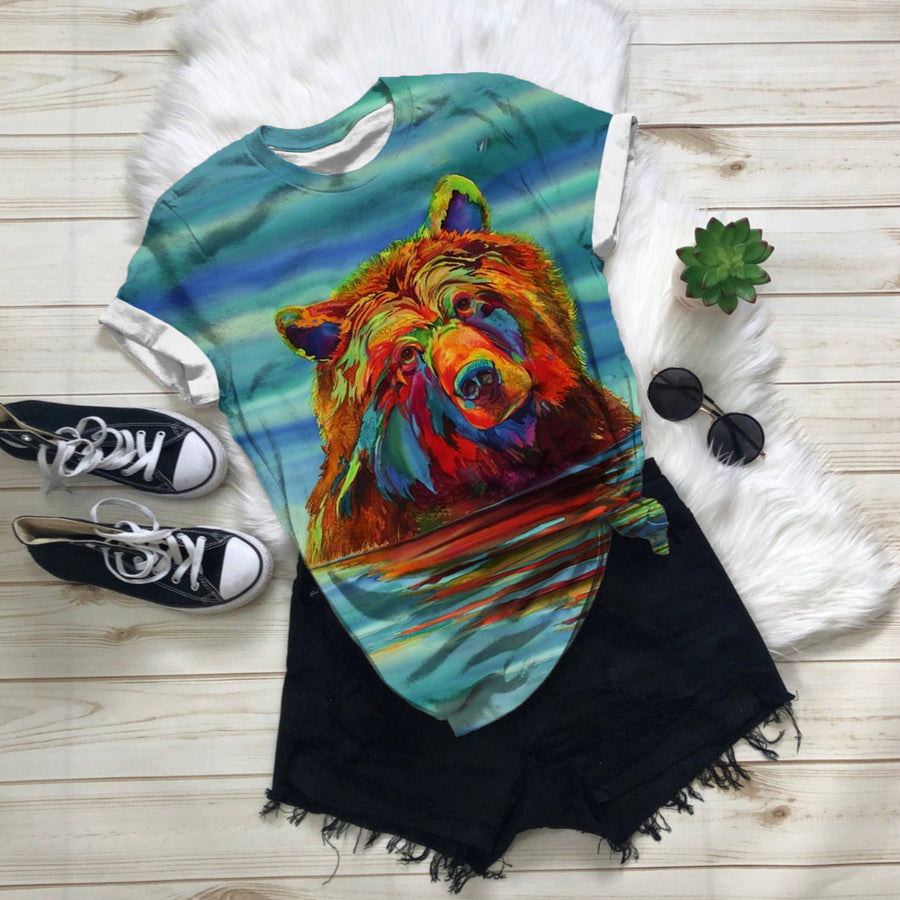 OIL PAINTING BEAR T-SHIRT