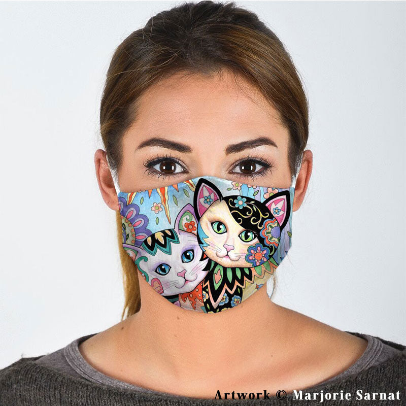 COUPLE LOVELY CAT FACE MASK