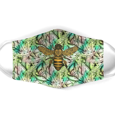 FLORAL BEE FACE MASK