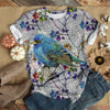 BLUEBIRD WITH WILDFLOWERS T-SHIRT