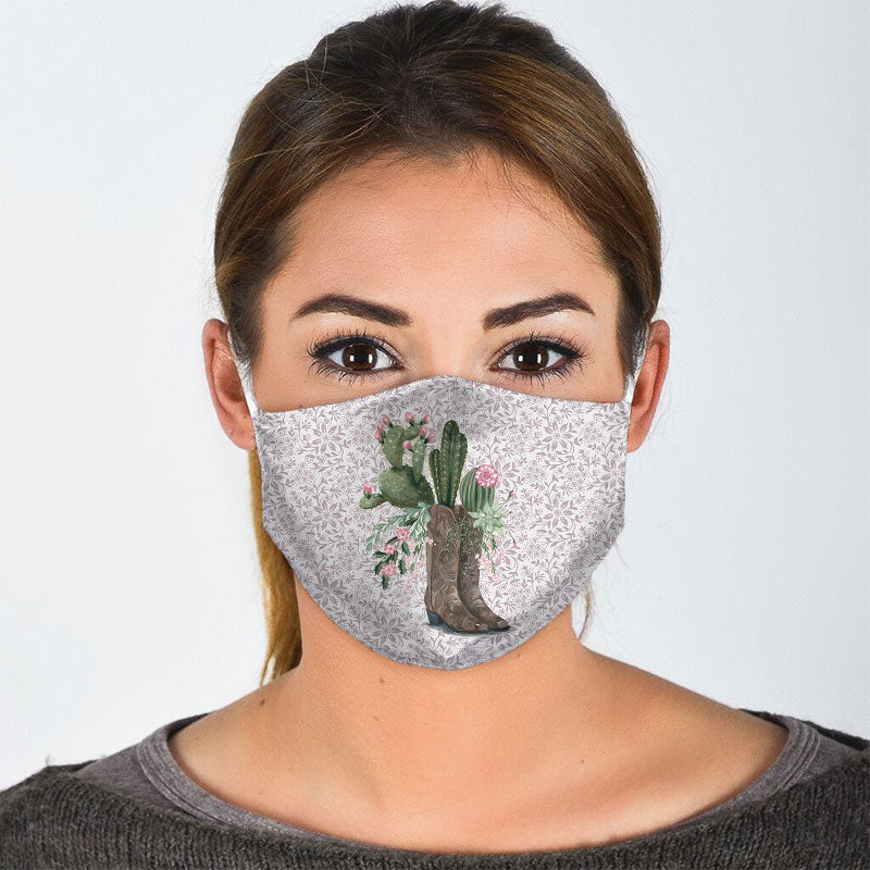 CACTUS IN BOOTS FACE MASK