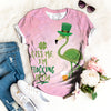GREEN FLAMINGO T-SHIRT