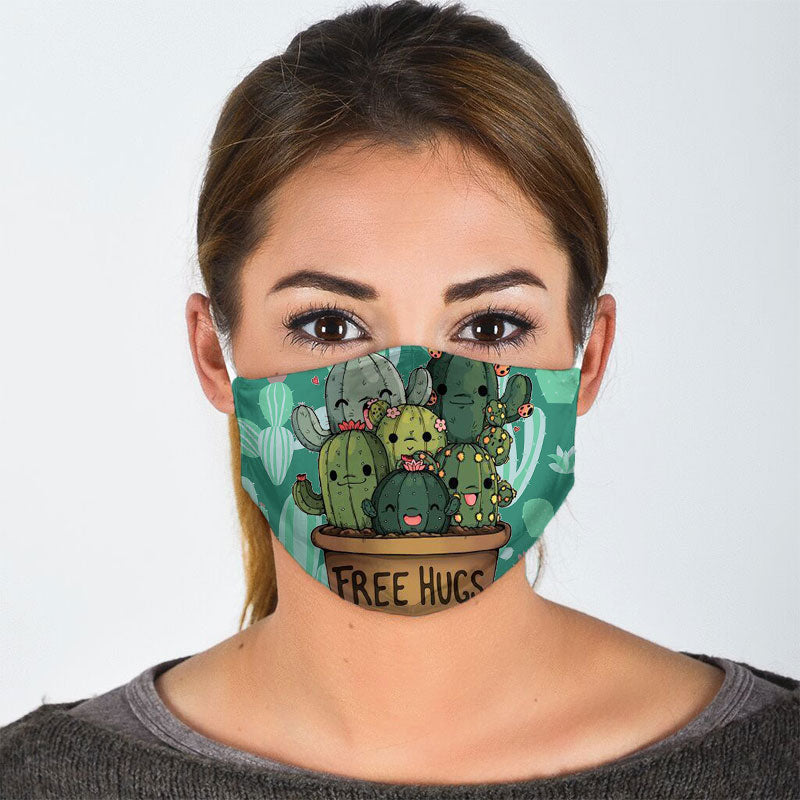 HAPPY CACTUS FAMILY FACE MASK