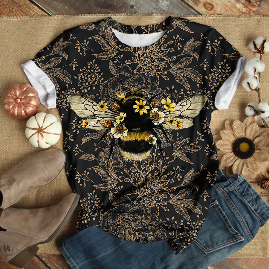 BEE WITH FLOWER T-SHIRT
