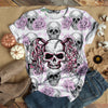 PINKY SKULL WITH PONY TAIL T-SHIRT