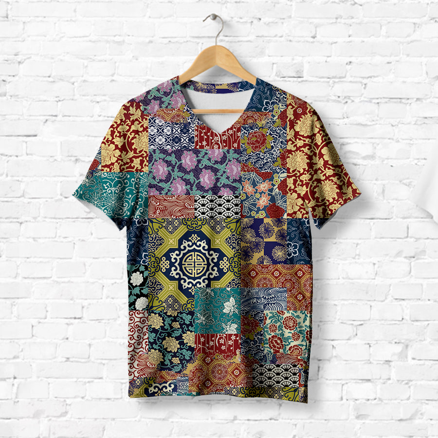 COLORFUL PATCHWORK T-SHIRT