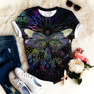 DRAGONFLY ABSTRACTION T-SHIRT