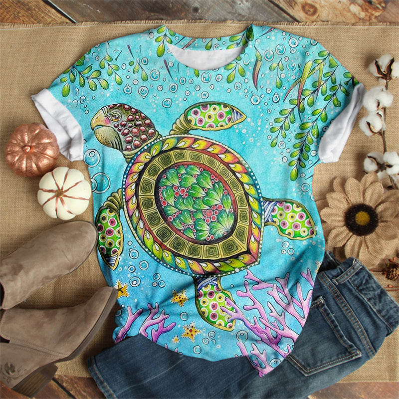 SEA TURTLE ART T-SHIRT