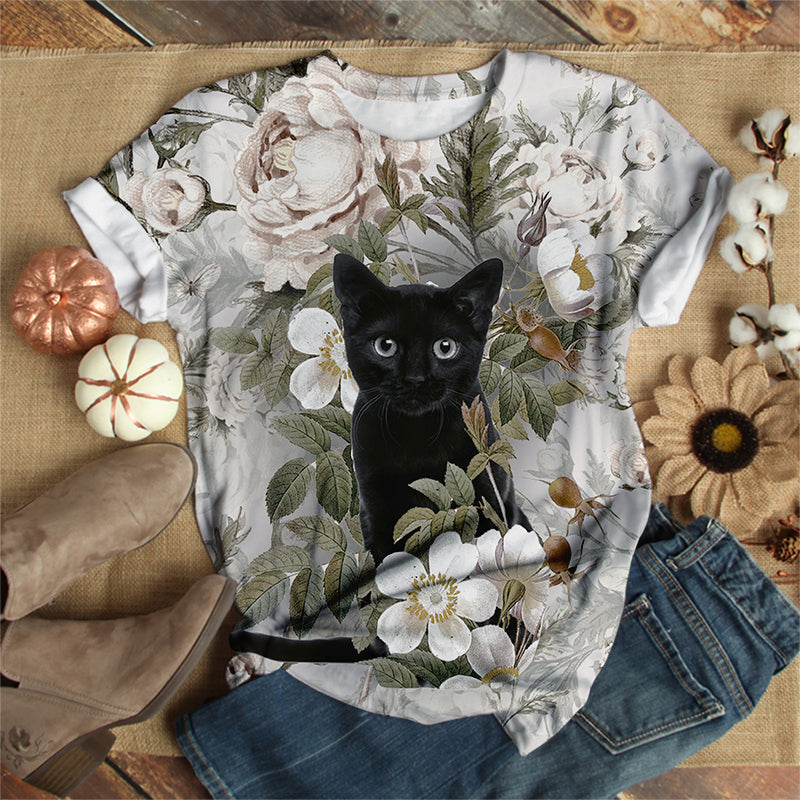 LITTLE BLACK CAT T-SHIRT