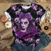 ALL PURPLE DAY OF THE DEAD T-SHIRT