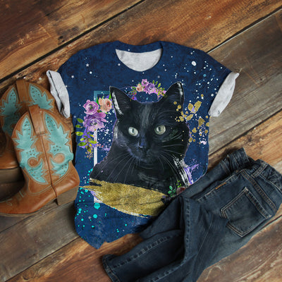 BLACK CAT MIDNIGHT T-SHIRT