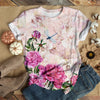 DRAGONFLY IN PINK GARDEN T-SHIRT
