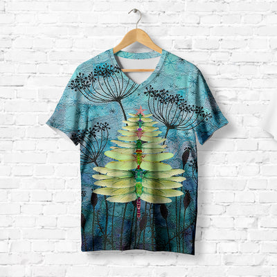 TREE SHAPED DRAGONFLY T-SHIRT