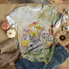 RABBIT HIDING IN THE GARDEN T-SHIRT