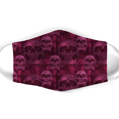 ALL PURPLE SKULL FACE MASK