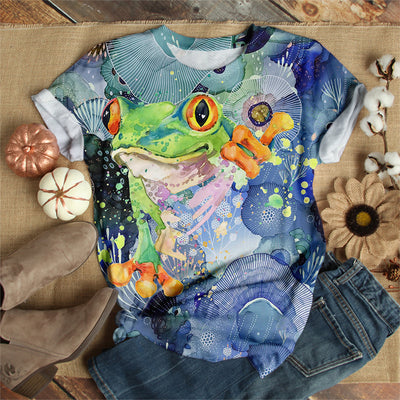 FROG PAINTING T-SHIRT