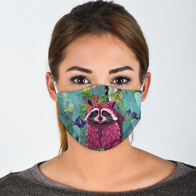 FLORAL RACOON FACE MASK