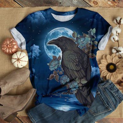 RAVEN ON FULL MOON NIGHT T-SHIRT
