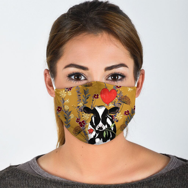 LOVE IS IN THE AIR COW FACE MASK