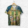 FLOWERY LAZY SLOTH T-SHIRT