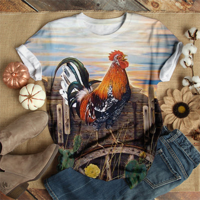 GOOD MORNING ROOSTER T-SHIRT