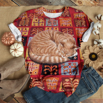 SLEEPING CAT T-SHIRT