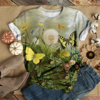 FLORAL BUTTERFLY T-SHIRT