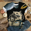 ASTRONAUT CAT GALAXY T-SHIRT