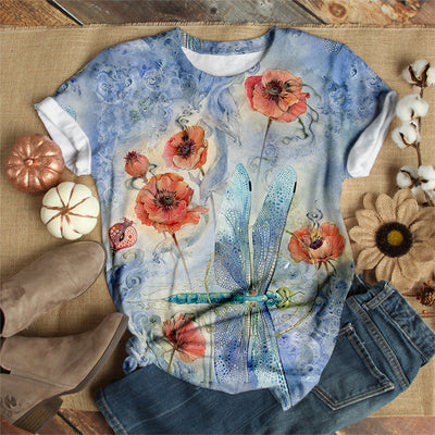 ALL BLUE DRAGONFLY T-SHIRT