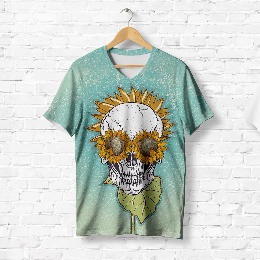 SUNFLOWER SKULL T-SHIRT