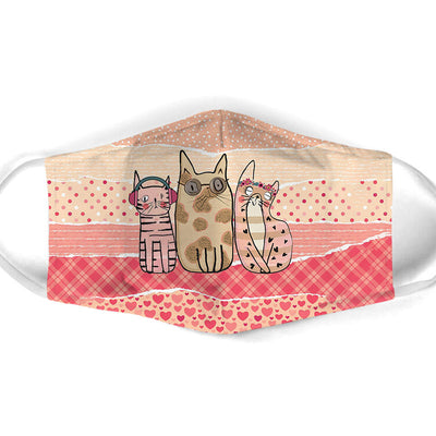 CAT FAMILY FACE MASK