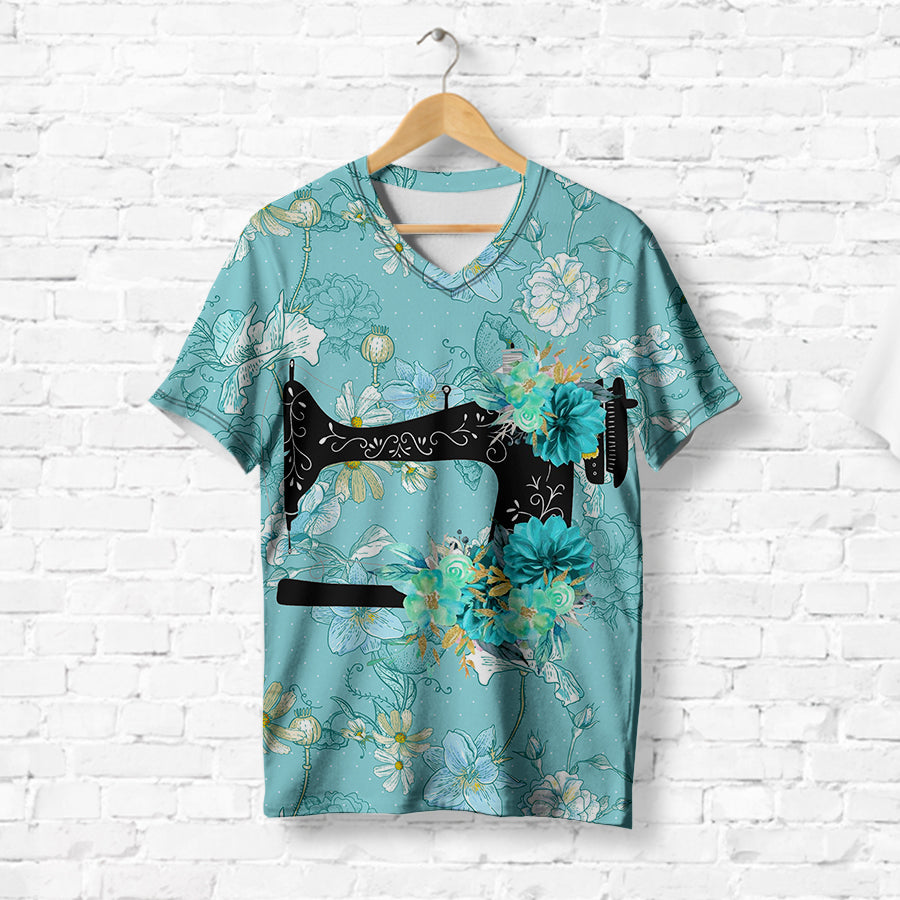 VINTAGE SEWING MACHINE T-SHIRT