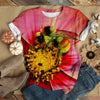 BEE ON PINK GERBERA T-SHIRT