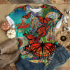 LOVELY ORANGE BUTTERFLY T-SHIRT