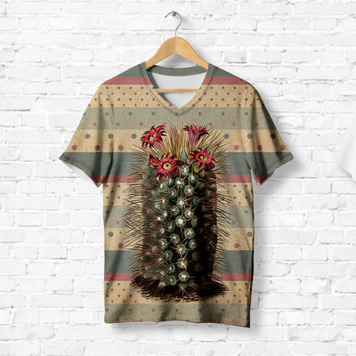 LONELY CACTUS WITH RED FLOWERS T-SHIRT