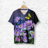 BUTTERFY WITH FLOWERS T-SHIRT