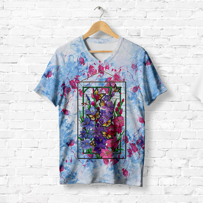 BUTTERFLY WITH FLOWER T-SHIRT