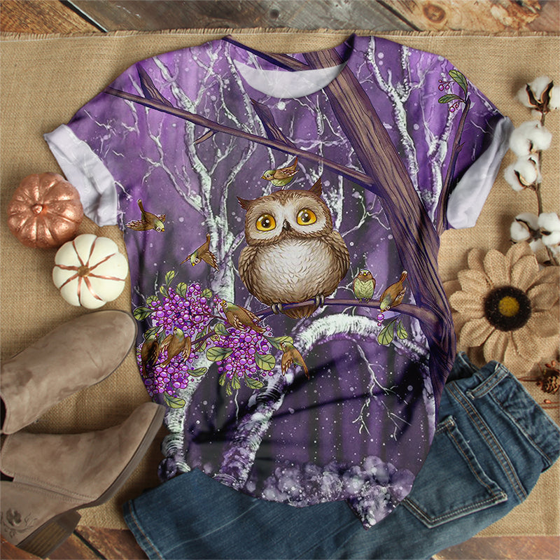 OWL IN THE MIDDLE OF THE WOOD T-SHIRT