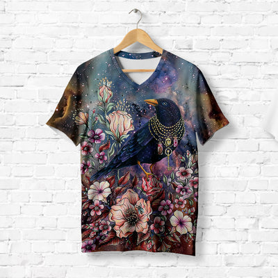 RAVEN IN SPARKLING NECKLACE T-SHIRT