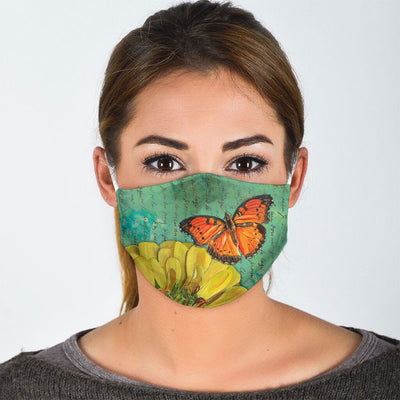 FLORAL BUTTERFLY FACE MASK