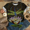 MOSAIC PATTERN DRAGONFLY T-SHIRT