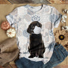 BLACK DOG WEARING A MASK T-SHIRT