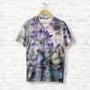 DRAGONFLY LANDING ON FLOWER T-SHIRT