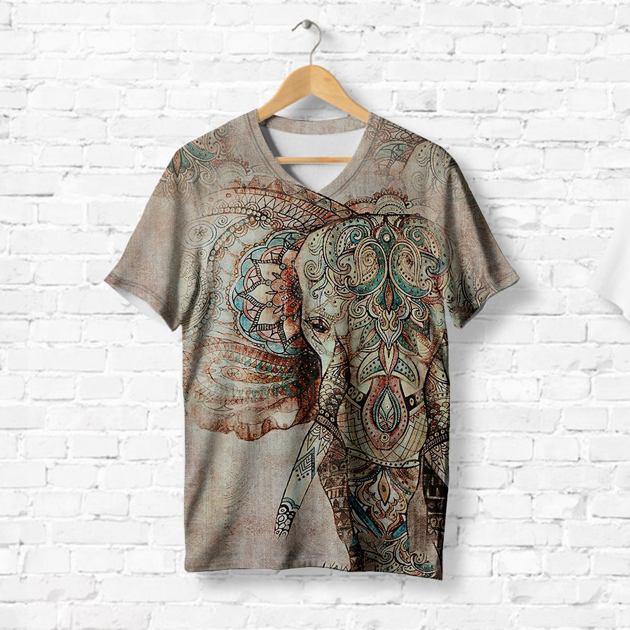 INDIAN GRAPHIC ELEPHANT T-SHIRT