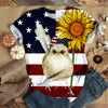 SUNFLOWER AMERICAN BIRD T-SHIRT