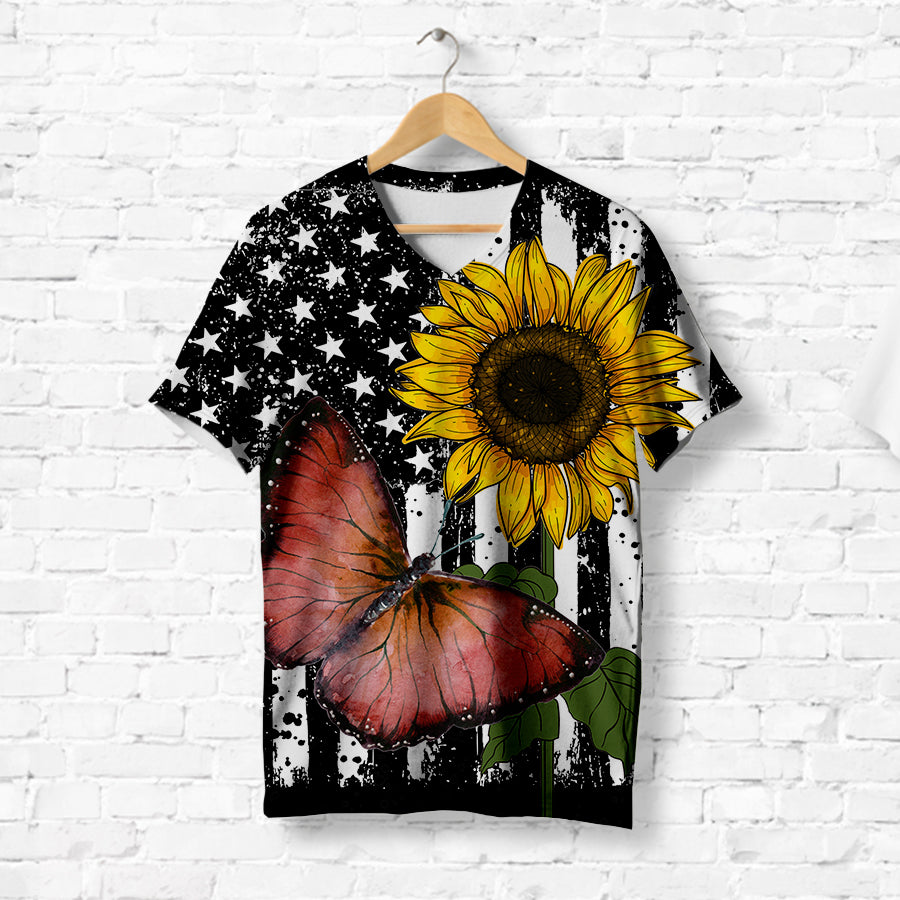 RED BUTTER WITH SUNFLOWER T-SHIRT