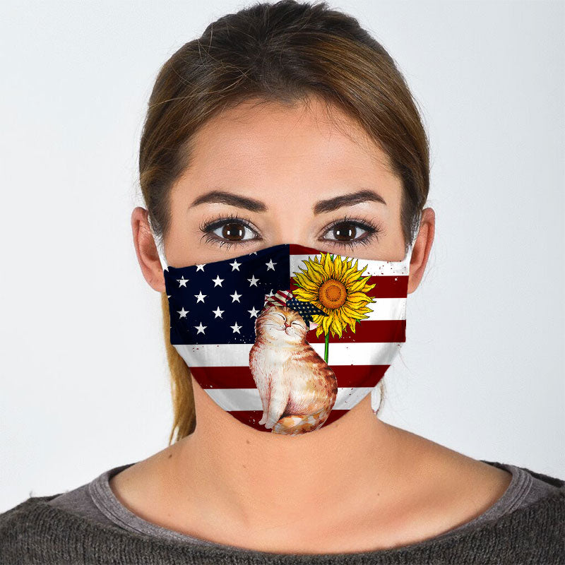 AMERICAN CUTE CAT FACE MASK