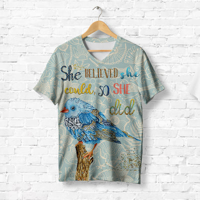 SPARKLING BLUE BIRD T-SHIRT